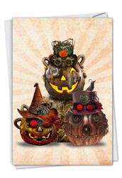 C2920DHW - Steampunk Halloween - Group: Greeting Card