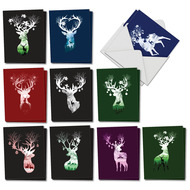 AM2921XT - Reindeer Silhouette: Mini Assorted Set of Cards