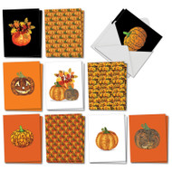 AM2922HW - Artful Pumpkins: Mini Mixed Set of Cards