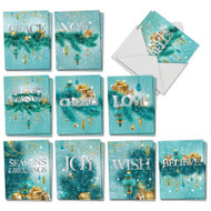 Season's Sparkles, Assorted Set Of Mini Christmas Note Cards - AM2945XSG