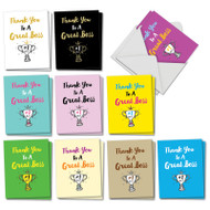 AM5886BY - Number One Boss - Gratitude: Mini Assorted Set of Cards
