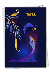 Nouveau Noel - Mother, Printed Christmas Greeting Cards - C6124AXSG