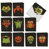 AM7034HW - Halloween Masks: Mini Assorted Set of Cards