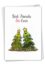 C7122DXS - Punny Holidays - Forever: Note Card