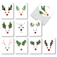 AM7380XS - Abstract Reindeer: Mini Assorted Set of Cards