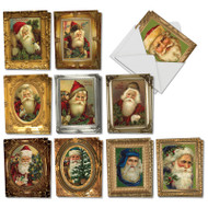 AM1746XT - Picture Perfect Santas: Mini Assorted Set of Cards