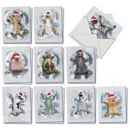AM4187XS - Critter Snow Angels: Mini Mixed Set of Cards