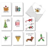 AM5079XT - Fun Christmas Puns: Mini Assorted Set of Cards