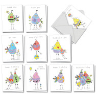 AM3176XX - Wordy Birdies: Mini Assorted Set of Cards