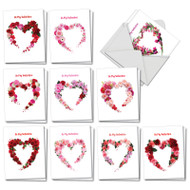 Heart Blooms, Assorted Set Of Mini Valentine's Day Note Cards - AM3180VDG