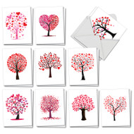 Love Trees, Assorted Set Of Mini Valentine's Day Greeting Cards - AM3185VDG