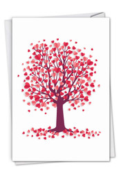 Love Trees, Printed Valentine's Day Note Card - C3185GVDG