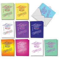 AM3191GD - Diploma Wordart: Mini Mixed Set of Cards