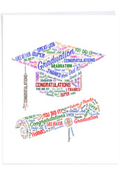 Diploma Wordart, Extra Large Graduation Greeting Card - J3191CGDG