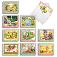 Springtime Chicks, Assorted Set Of Mini Easter Note Cards - AM3196EAG