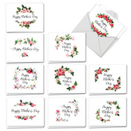 Elegant Flowers, Assorted Set Of Mini Mother's Day Greeting Cards - AM4175MDG