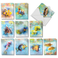 AM7176TY - Underwater Colors: Mini Mixed Set of Cards