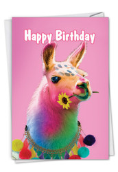 Colorful Creatures, Printed Birthday Greeting Card - C7178ABDG