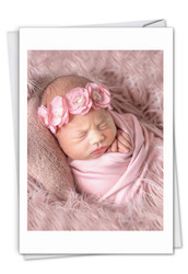 C7180ABB - Blissful Babies - Girl: Paper Card