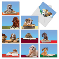 M2967 - Reading Eye Dogs: Mixed Set of 10 Cards