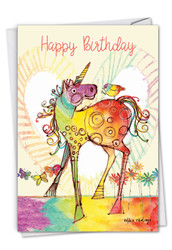 C7245ABD - Happy Unicorns: Greeting Card