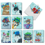 AM7375OC - Butterfly Cats: Mini Assorted Set of Cards