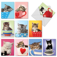 M2969 - Cup-Cats: Mixed Set of 10 Cards
