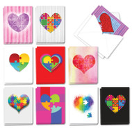 AM3181OC - Jigsaw Hearts: Mini Assorted Set of Cards