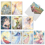 Winged Women, Assorted Set Of Mini Thank You Note Cards - AM3970TYG