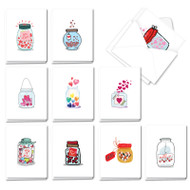 AM3183OC - Love Jar: Mini Assorted Set of Cards