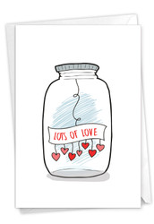 C3183IVD - Love Jar: Greeting Card