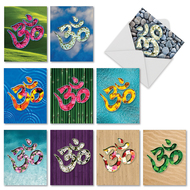 Om Blooms, Assorted Set Of Mini Thank You Greeting Cards - AM3971TYG
