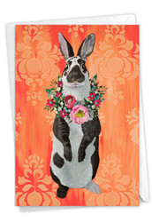 C3364CEA - Fancy Wildlife - Rabbit: Paper Card