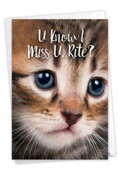 C3365BMY - Miss U Kitties: Greeting Card