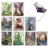 Fantastic Faeries, Assorted Set Of Mini Blank Note Cards - AM3367OCB