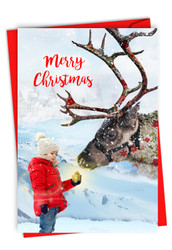 C2940GXS - Patterned Animals - Reindeer: Printed Card