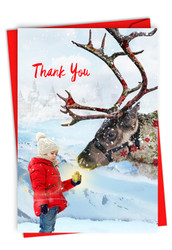 C2940GXT - Patterned Animals - Reindeer: Greeting Card