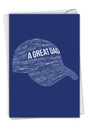 A Great Dad, Printed Father's Day Greeting Card - C6780FDG