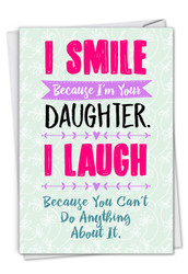 C3134FD - Smiling Daughter: Note Card