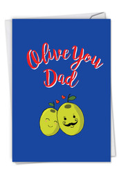 C5406FD - Olive You Dad: Greeting Card