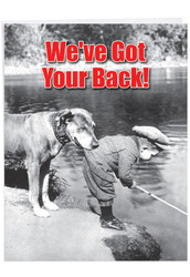 Got Your Back, Extra Large Friendship Greeting Card - J6342FRG-US