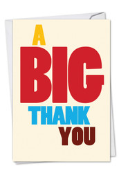 C9689TY - Big Thank You Thank You Humor Card: Printed Card