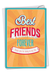 C9129TY - Best Friends Forever Thank You Thank You Humor Greeting Card: Note Card