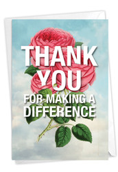 Making A Difference, Printed Thank You Greeting Card - C3720TYG