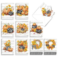 Rustic Fall, Assorted Set Of Mini Halloween Greeting Cards - AM3373HWG