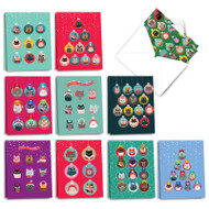 AM3491XS - Cat Ornaments: Mini Mixed Set of Cards