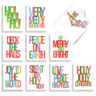 Multicolored Holidays, Assorted Set Of Mini Christmas Note Cards - AM3517XSG