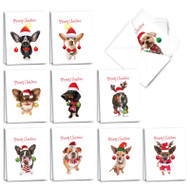 Doggy New Ear, Assorted Set Of Mini Mixed Occasions Greeting Cards - AM3693XXG