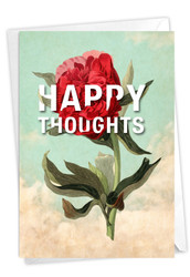 Timely Thoughts - Happy Thoughts, Printed Blank Greeting Card - C3696AFRB