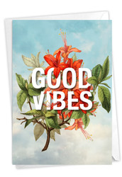 Timely Thoughts - Good Vibes, Printed Blank Note Card - C3696BFRB